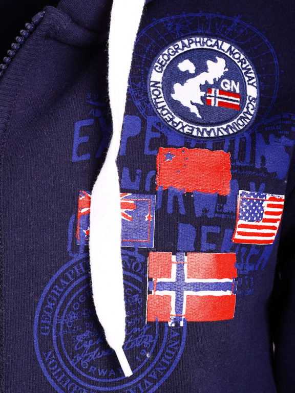Geographical Norway vest heren sweater blauw Gundreal bij Bendelli (3)