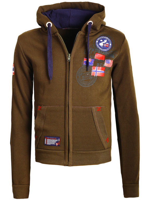 Geographical Norway vest heren sweater bruin Gundreal bij Bendelli (2)