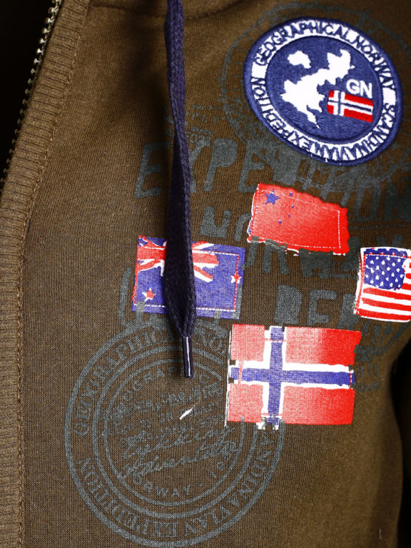 Geographical Norway vest heren sweater bruin Gundreal bij Bendelli (3)