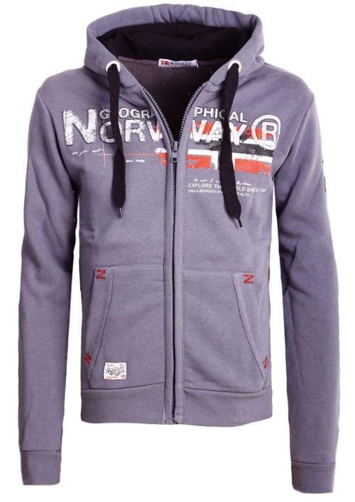 Geographical Norway vest heren sweater donkergrijs Gisland bij Bendelli (2)