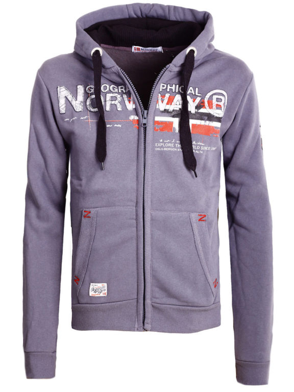 Geographical Norway vest heren sweater donkergrijs Gisland bij Bendelli (2)