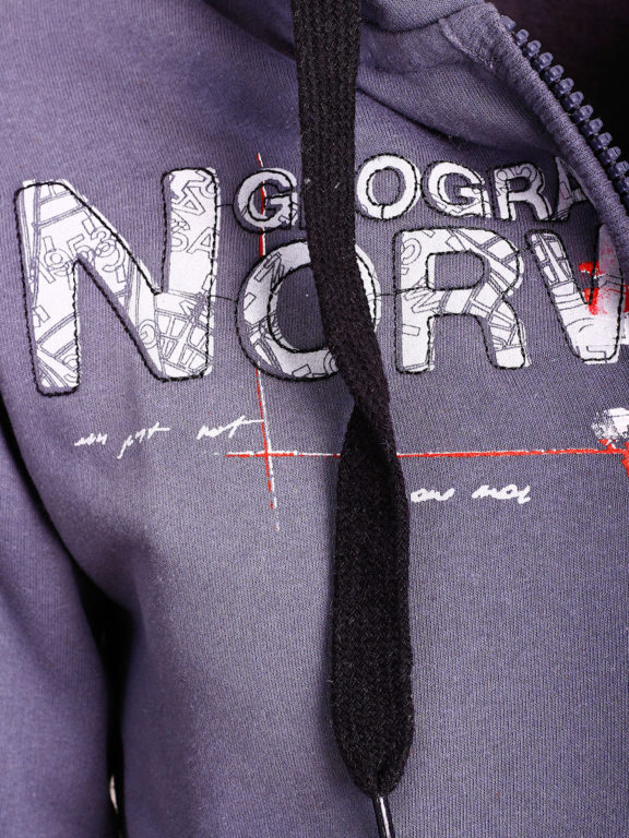 Geographical Norway vest heren sweater donkergrijs Gisland bij Bendelli (3)