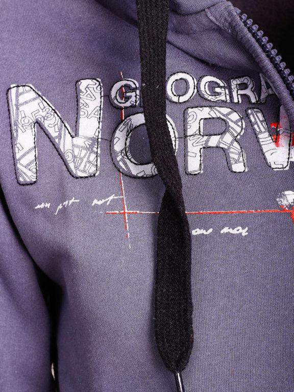 Geographical Norway vest heren sweater donkergrijs Gisland bij Bendelli (3)