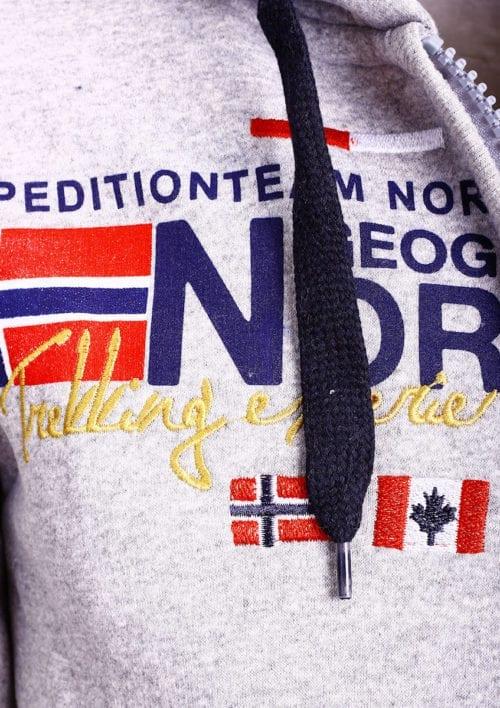 Geographical Norway vest heren sweater grijs Galliator bij Bendelli (3)
