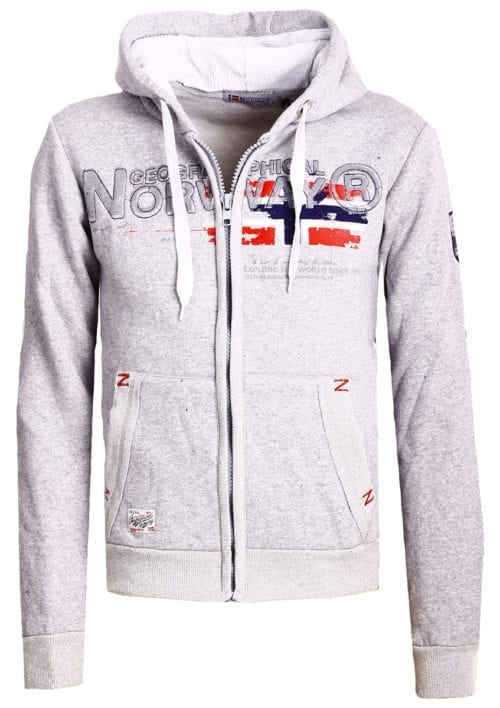 Geographical Norway vest heren sweater grijs Gisland bij Bendelli (2)
