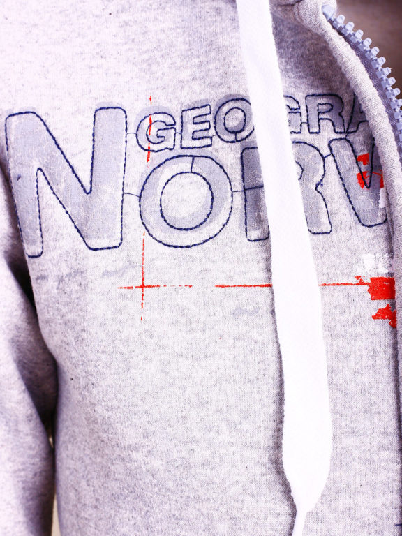 Geographical Norway vest heren sweater grijs Gisland bij Bendelli (3)