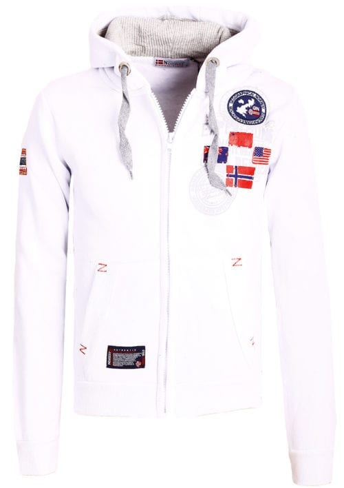 Geographical Norway vest heren sweater wit Gundreal bij Bendelli (1)