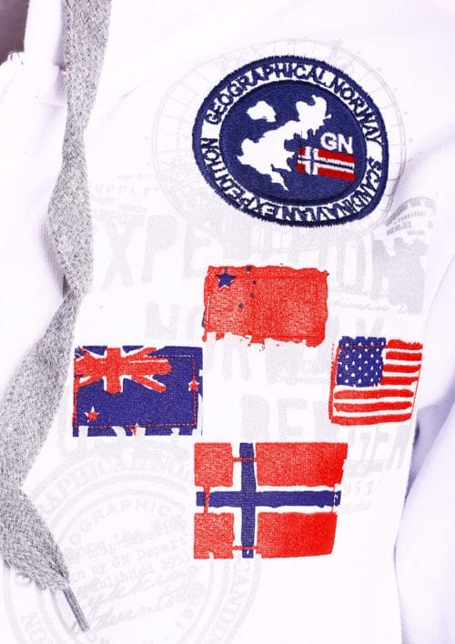 Geographical Norway vest heren sweater wit Gundreal bij Bendelli (2