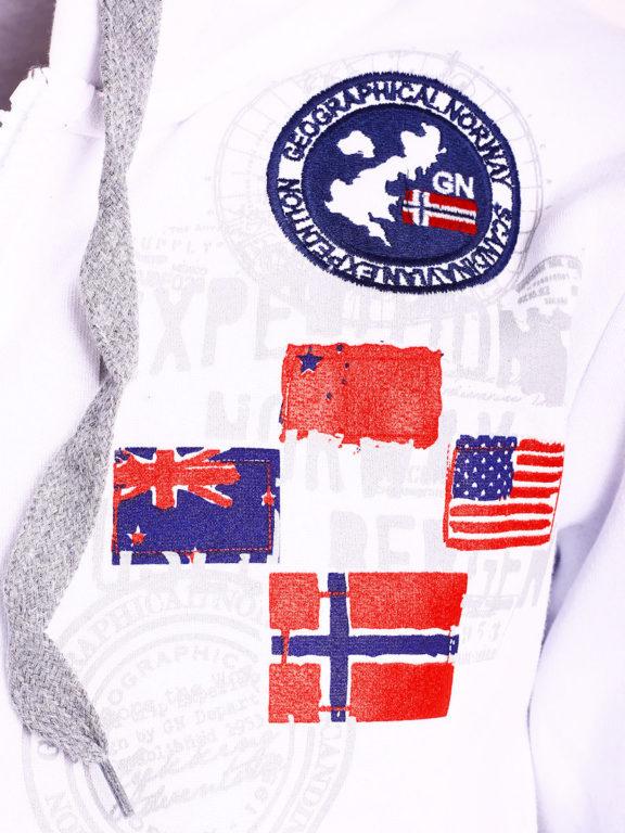 Geographical Norway vest heren sweater wit Gundreal bij Bendelli (2