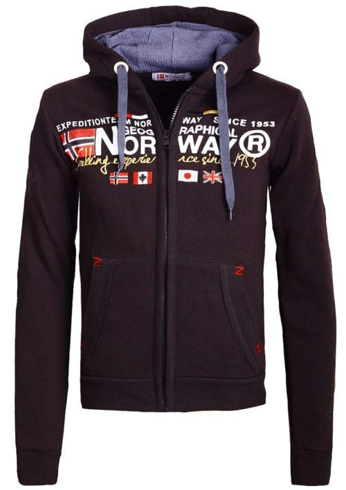 Geographical Norway vest heren sweater zwart Galliator bij Bendelli (2)