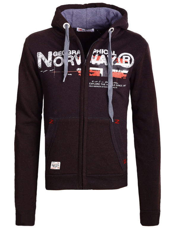 Geographical Norway vest heren sweater zwart Gisland bij Bendelli (2)