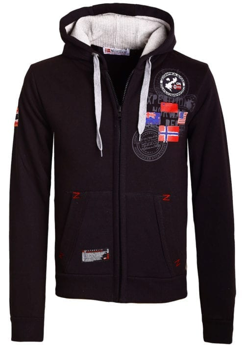 Geographical Norway vest heren sweater zwart Gundreal bij Bendelli (2)