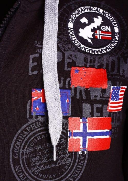 Geographical Norway vest heren sweater zwart Gundreal bij Bendelli (3)