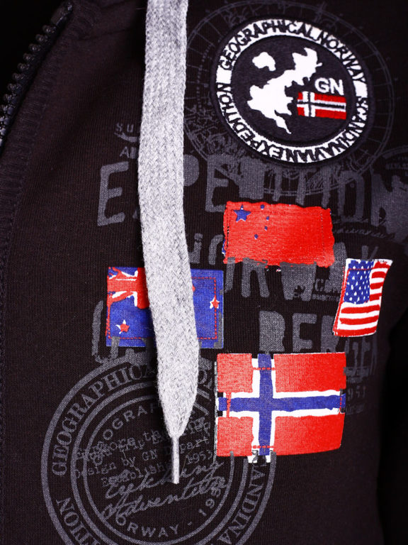 Geographical Norway vest heren sweater zwart Gundreal bij Bendelli (3)