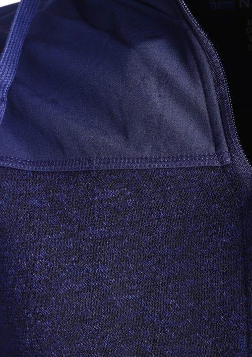 Geographical Norway vest of sweater blauw heren met afneembare capuchon Tjhon (3)