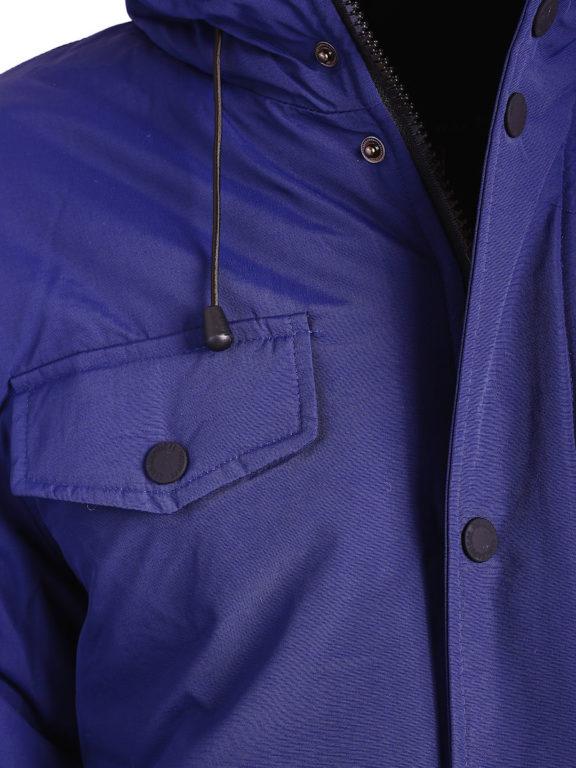 Geographical Norway winterjas blauw heren met afneembare capuchon Alcaline (2)
