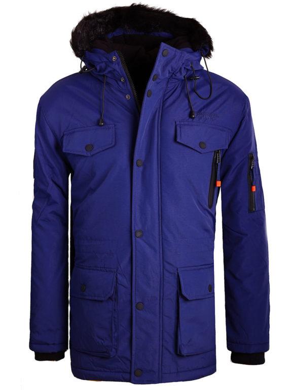 Geographical Norway winterjas blauw heren met afneembare capuchon Alcaline (9)
