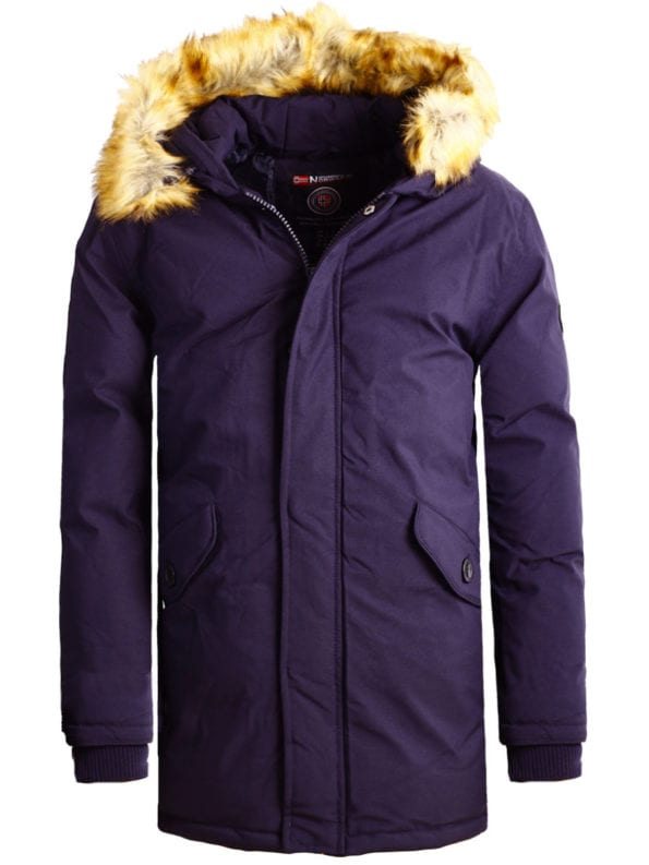 Geographical Norway winterjas heren Blauw met capuchon Bagway Bendelli (2)