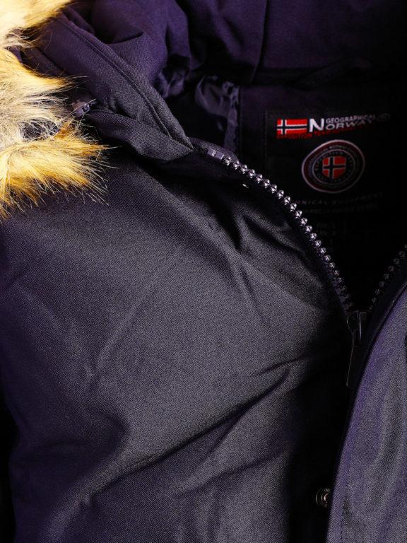 Geographical Norway winterjas heren Blauw met capuchon Bagway Bendelli (3)