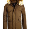 Geographical Norway winterjas heren bruin met capuchon Bagway Bendelli (2)