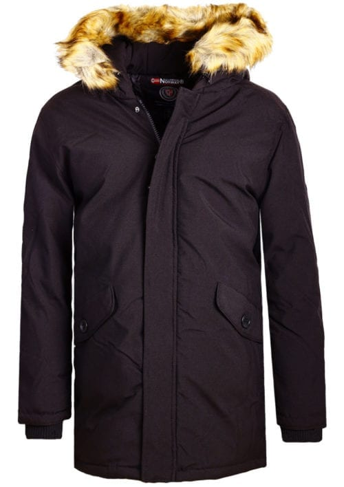 Geographical Norway winterjas heren zwart met capuchon Bagway Bendelli (2)