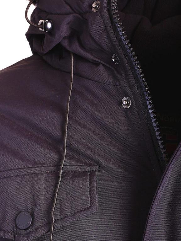 Geographical Norway winterjas zwart heren met afneembare capuchon Alcaline (3)