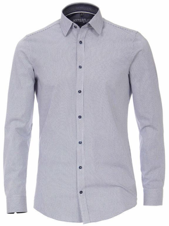 Venti overhemd blauw gewerkt hyperflex sneakershirt (2)
