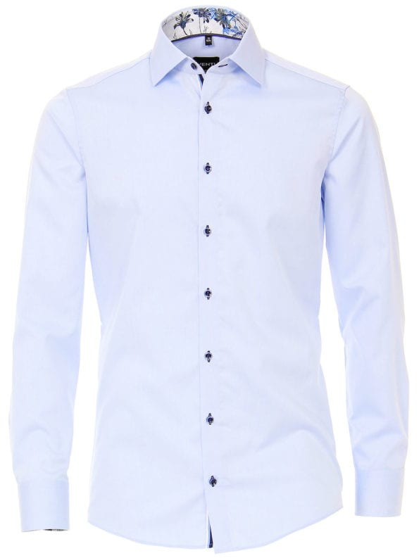Venti overhemd blauw strijkvrij kent boord lange mouw103367800102 (2)