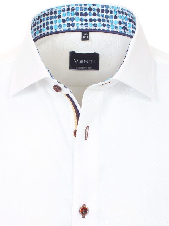 Venti overhemd wit strijkvrij kent boord lange mouw 103366000001 (4)