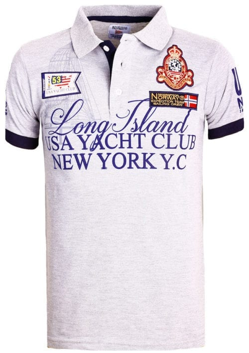 Geographical Norway poloshirt grijs Keylong Long Island New York USA (2)