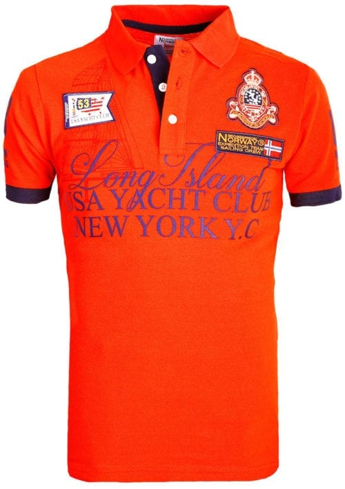 Geographical Norway poloshirt rood Keylong Long Island New York USA (2)