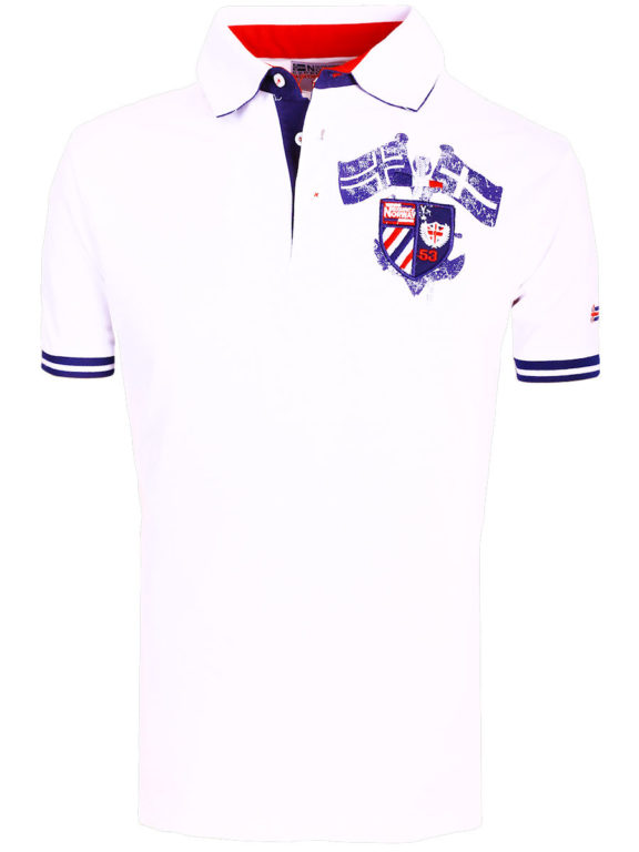 Geographical Norway poloshirt wit Keny polo shirts voor heren bij bendelli (2)