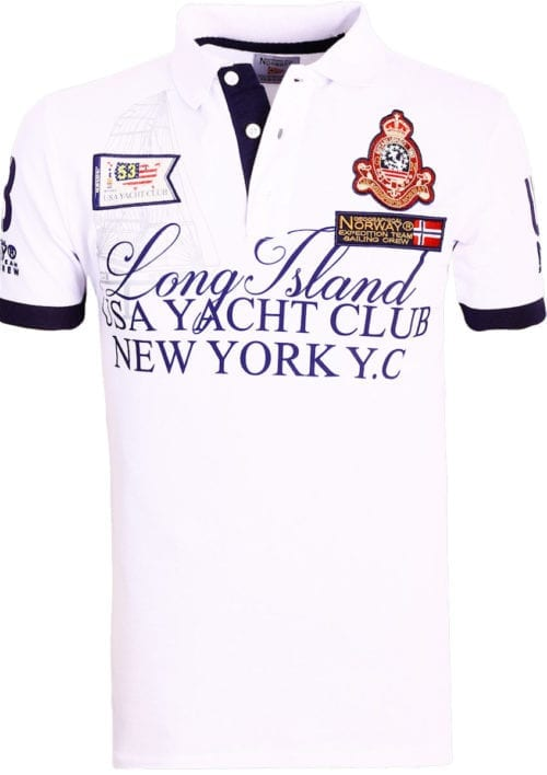 Geographical Norway poloshirt wit Keylong Long Island New York USA (1)