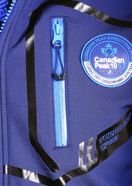 Canadian Peak Softshell jas heren Blauw Terle Softshell jacks (3)
