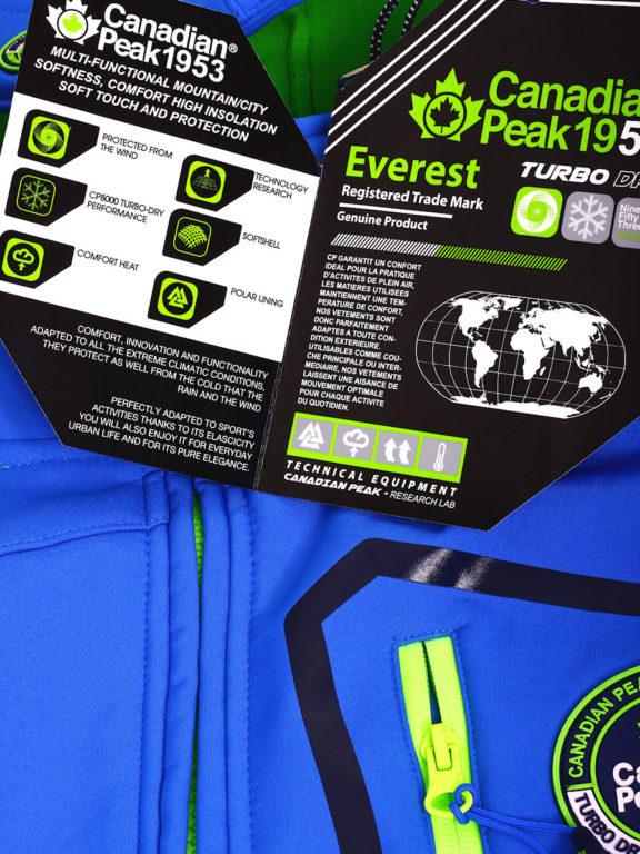 Canadian Peak Softshell jas heren kobalt Terle Softshell jacks (1)