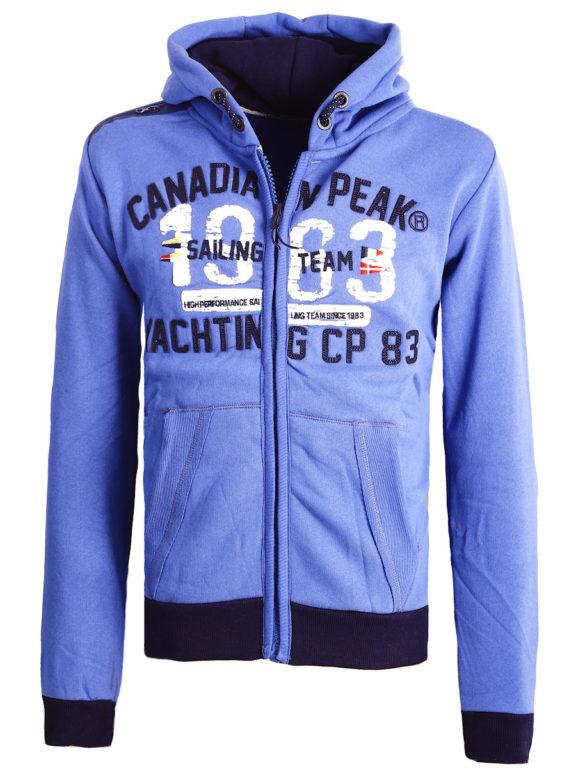 Canadian Peak Vest met capuchon Blauw Heren Sweaters Fanika (2)