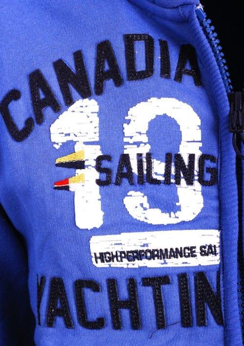Canadian Peak Vest met capuchon Blauw Heren Sweaters Fanika (3)