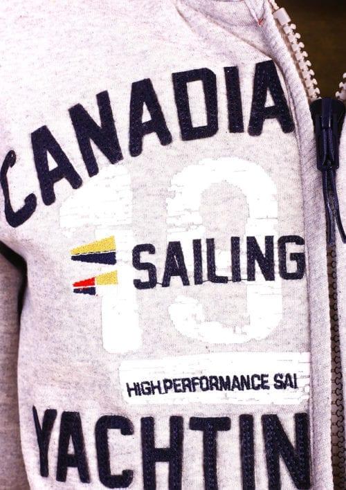 Canadian Peak Vest met capuchon Grijs Heren Sweaters Fanika (3)