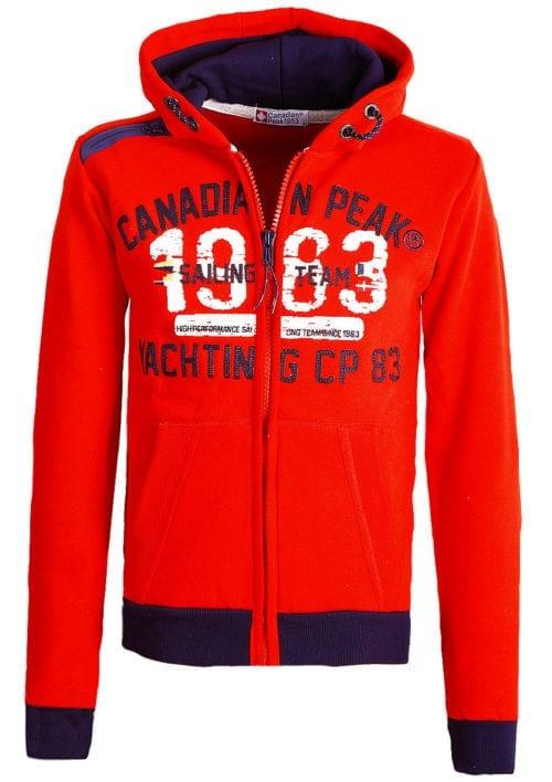 Canadian Peak Vest met capuchon Rood Heren Sweaters Fanika (2)