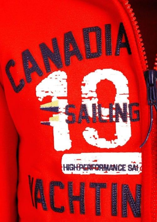 Canadian Peak Vest met capuchon Rood Heren Sweaters Fanika (3)