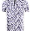 Carisma bloemenoverhemd korte mouw wit shirt met bloemenprint 9113 (2)