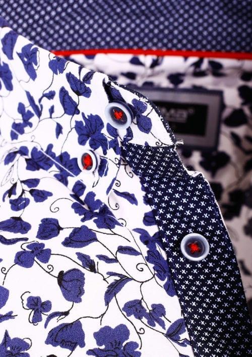 Carisma bloemenoverhemd korte mouw wit shirt met bloemenprint 9113 (4)
