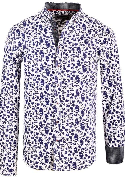 Carisma bloemenoverhemd lange mouw wit shirt met bloemenprint 8417 (2)