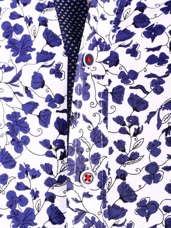 Carisma bloemenoverhemd lange mouw wit shirt met bloemenprint 8417 (3)