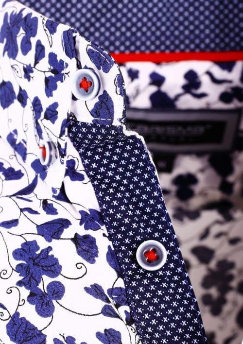 Carisma bloemenoverhemd lange mouw wit shirt met bloemenprint 8417 (4)