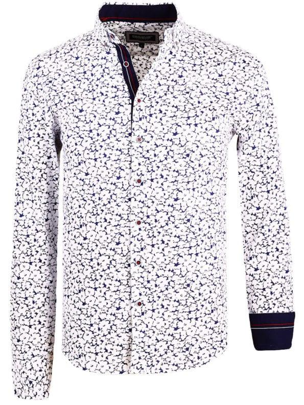 Carisma bloemenoverhemd lange mouw wit shirt met bloemenprint 8462 (2)