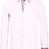 Carisma overhemd dubbele boord geruit lange mouw wit 8467 (2)