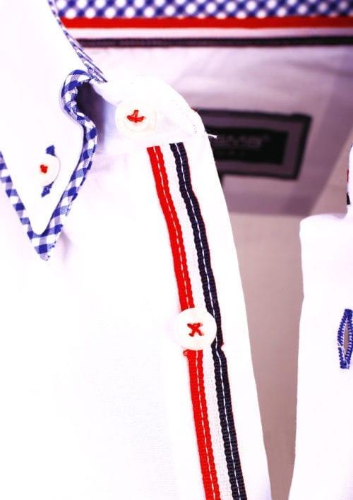 Carisma overhemd dubbele boord geruit lange mouw wit 8467 (3)