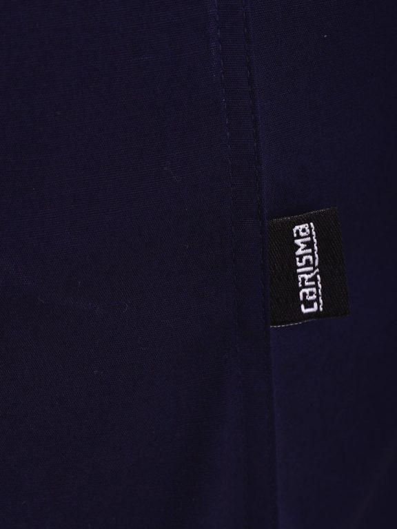 Carisma overhemd effen korte mouw met stretch blauw 9102 (1)
