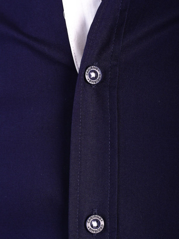 Carisma overhemd effen korte mouw met stretch blauw 9102 (3)